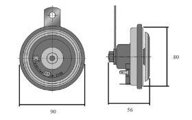 ATRESSA ILUMINACION 5802G48 - SONIDO GRAVE 36 V 112 DECIBELIOS