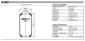 Black Tech RL9893 - FUELLE SUSPENSION AD 720N VOLVO/MAN/MERCEDES