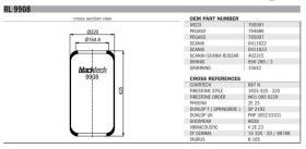 Black Tech RL9908 - MEMBRANA RENAULT