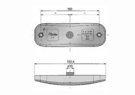 ATRESSA ILUMINACION 71344 - LUZ POSICIÓN DELANTERA LED 12V CABLE PLANO 3000 MM CON CONEC