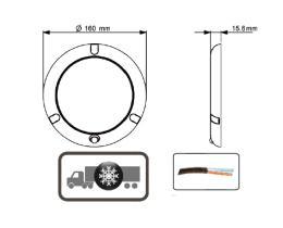 ATRESSA ILUMINACION LI016050 - PLAFÓN LED 12V/24V 160 MM CON SENSOR MOVIMIENTO