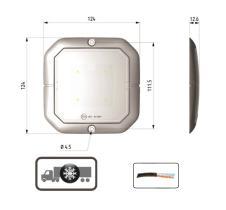 ATRESSA ILUMINACION LI017200 - LUZ INTERIOR 12/24V CON CONTROL DE PRESENCIA 4 LED