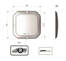 ATRESSA ILUMINACION LI017300 - LUZ INTERIOR 12/24V PIR CON CONTROL DE PRESENCIA 4 LED