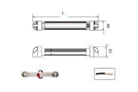 ATRESSA ILUMINACION LI017700 - BARRA LED 12/24V ROTABLE 330MM